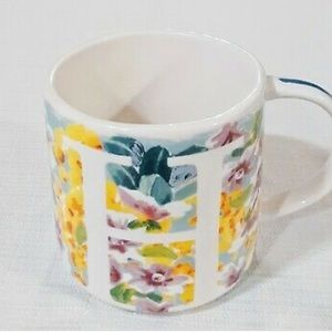 Anthropologie Monogram Mug H Initial